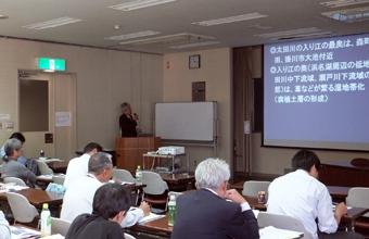 本多 豊氏による講演 「静岡県の軟弱地盤の生い立ちとその特性」