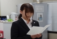 昨年入社の嶋下さんによる歓迎の言葉